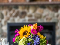Bright Centerpiece in Rustic Wooden Box