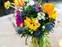 Simple Wildflower Centerpiece in Mason Jar