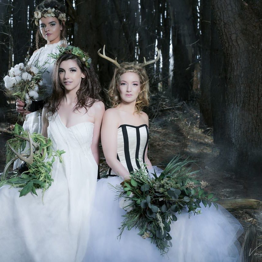 Woodland Goddesses  #lotusfleurs  #vannakphotography #charmlab #JUNIdress #woodland wedding #nhwedding #weddingflowers