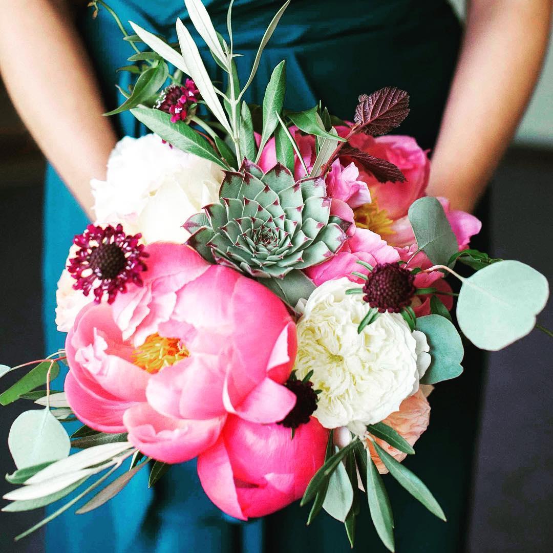 Bridesmaid Bling  @nicolemontmarquetphotography  #watervillevalley #peonies #whitemountainwedding #bouquet #succulent #gardenroses #eucalyptus