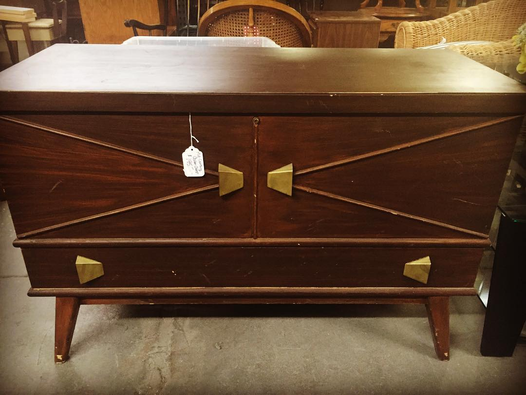 Bought this awesomeness at the Habitat for Humanity retail store- #winning #cedarchest