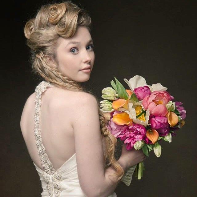 {Renaissance Bride} @wickedmojo  #vintagebride #lovely #bouquet #peonies #tulips #callalillies #renaissance #lotusfloraldesigns  #photoshoot #nhweddingflorist  #theknot #stylemepretty #nofilter