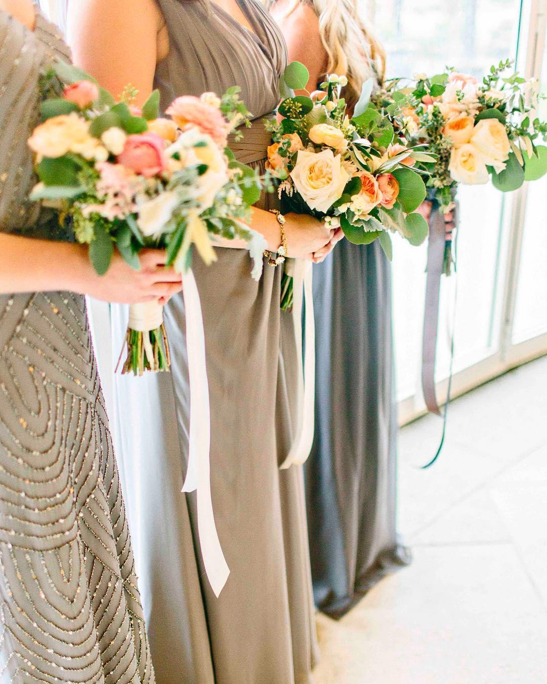 {her girls} photo | @kellydillonphotography  #capecodwedding #bridesmaids #thesedresses #bouquets #lovely #lotusfloraldesigns #weddingflorist