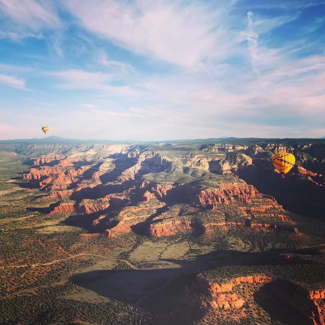 Went in a hot air balloon the other day…no big deal… #sedona #holycrap #amazing #redrocks #yes