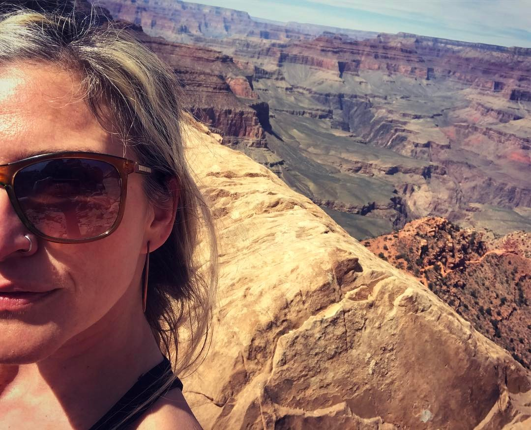 I don't always post selfies, but when I do, there's something pretty grand behind me… #punintended #grandcanyon #amazeballs