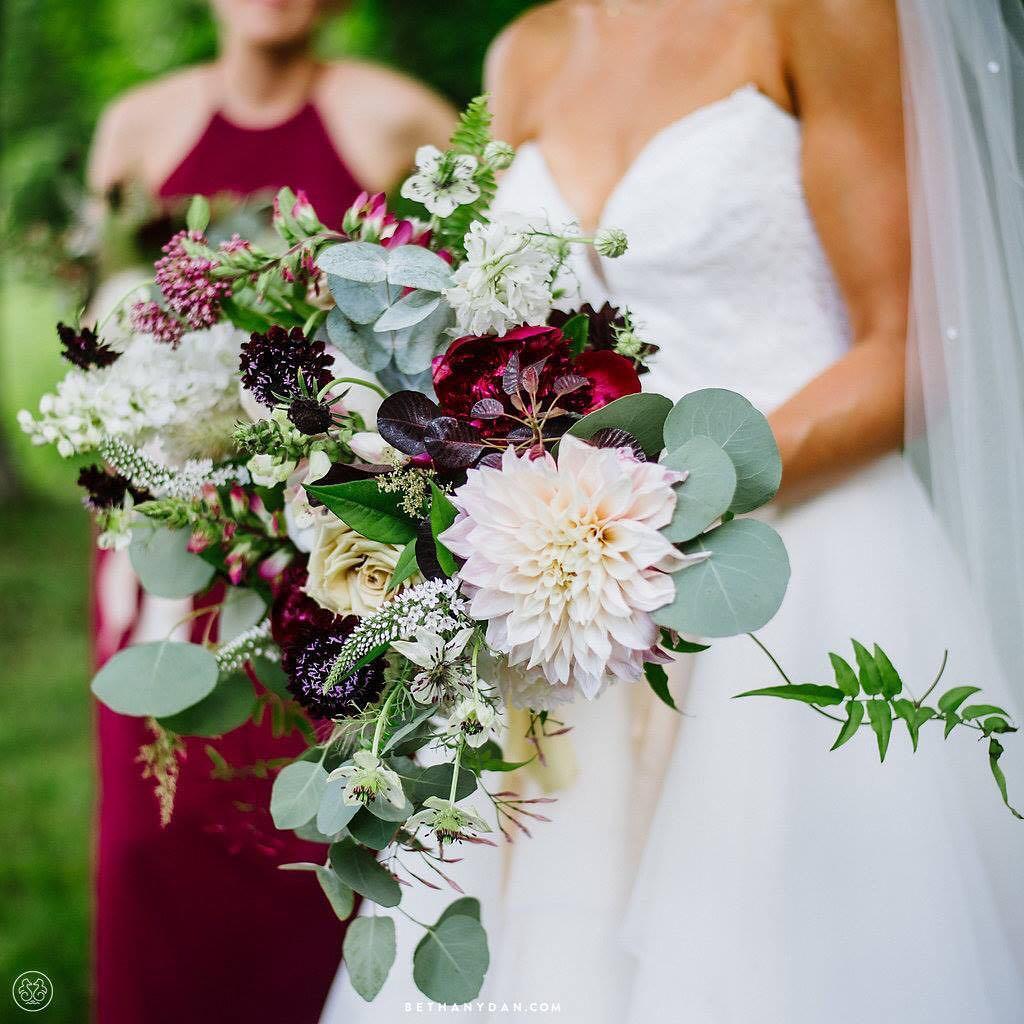 {holy gorgeous} photo | @bethanyanddan  #lovethis #bridebling #bouquet #accessory #cafeaulait #marsala #blush #lookatthosearms #lovely #prettyflowers #lotusfloraldesigns #weddingflorist #barnwedding #nhwedding #sugarfreelovestory #lovethisbride