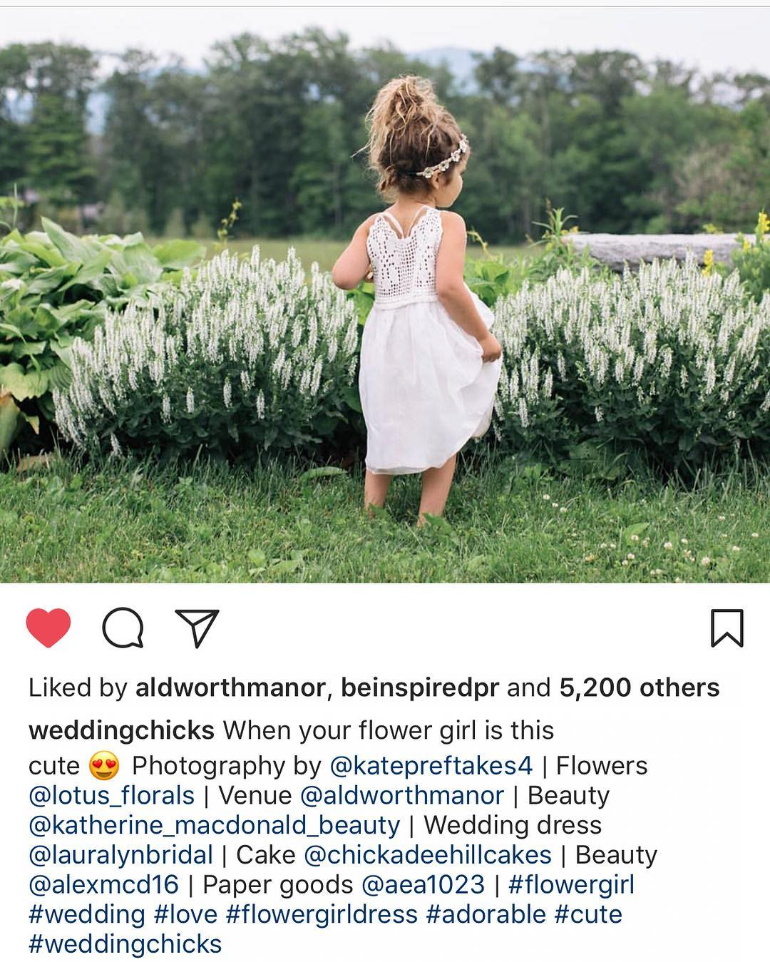 Our amazing little flower girl Patience getting mad love on @weddingchicks in this pic by @katepreftakes4 from our @aldworthmanor shoot❤❤❤