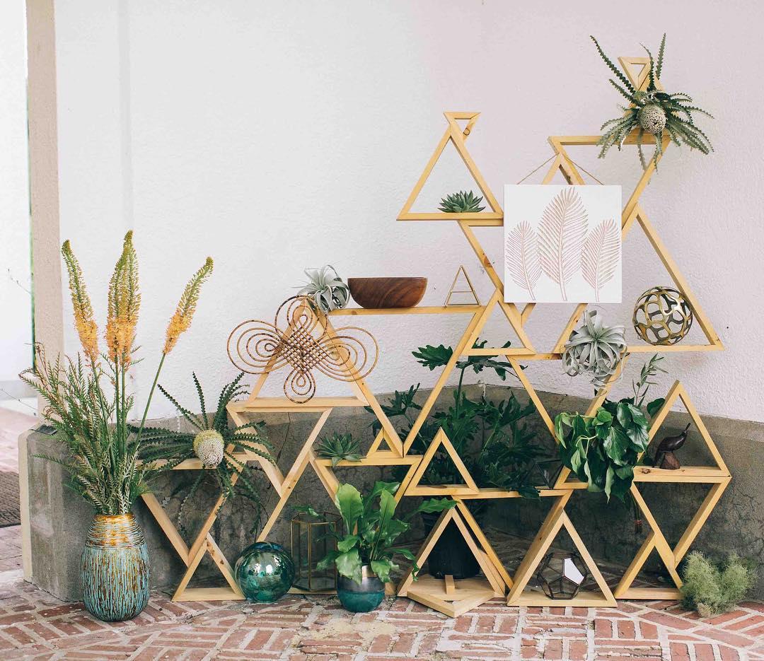 {boho style} photo | @katepreftakes4  #decor #geometric #random #coolstuff #vintage #shabbychic #boho #bohostyle #aqua #gold #succulents #wooden #prisms
