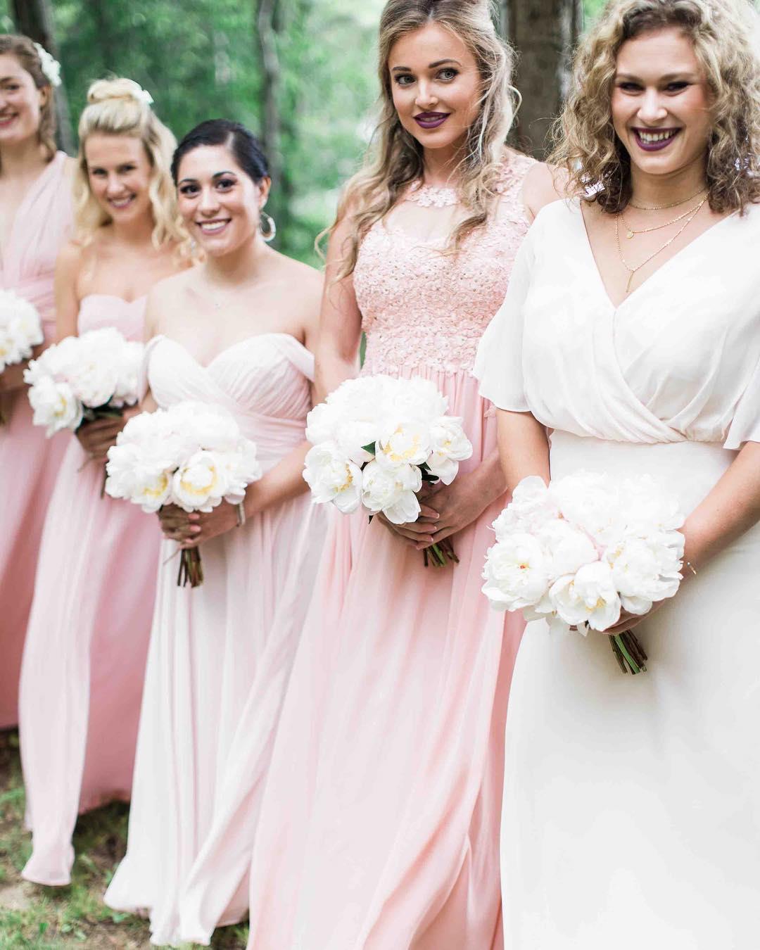 {blushing} photo | @jharperphoto . . . #hergirls #prettyinpink #peonies #blush #lovelies #bridesmaids #smiles #love #lotusfloraldesigns #weddingflowers #weddingflorist #nhwedding #squamlake