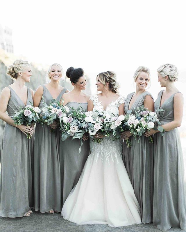{these beauties} photo | @jharperphoto . . . #bridetribe #hergirls #bride #bridesmaids #bouquets #oceanside #coastofmaine #happy #gorgeous #lotusfloraldesigns #cliffhousemaine #mainewedding #love