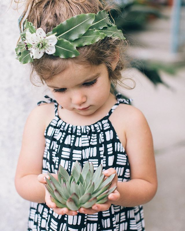 {curious} photo | @kate_preftakes . . #flowerbabe #flowerchild #flowergirl #cutie #flowercrown #succulent #bohobaby #bohostyle #photoshoot #collaboration #lotusfloraldesigns #getcreative #love