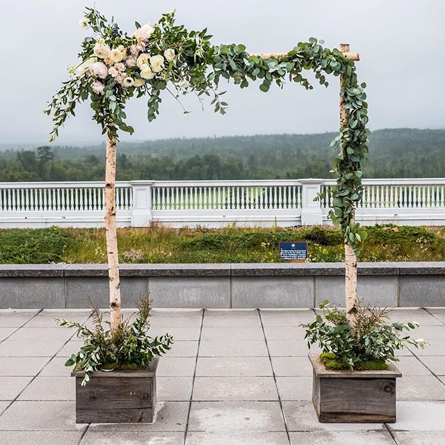 {lotus•arbor} *avail for rental . photo | @ericmccallister . . #ceremony #arbor #arbordecor #ceremonydecor #ceremonybackdrop #simple #rustic #whitebirch #greenery #nhwedding #weddingflowers #lotusfloraldesigns #nhweddingflorist #love