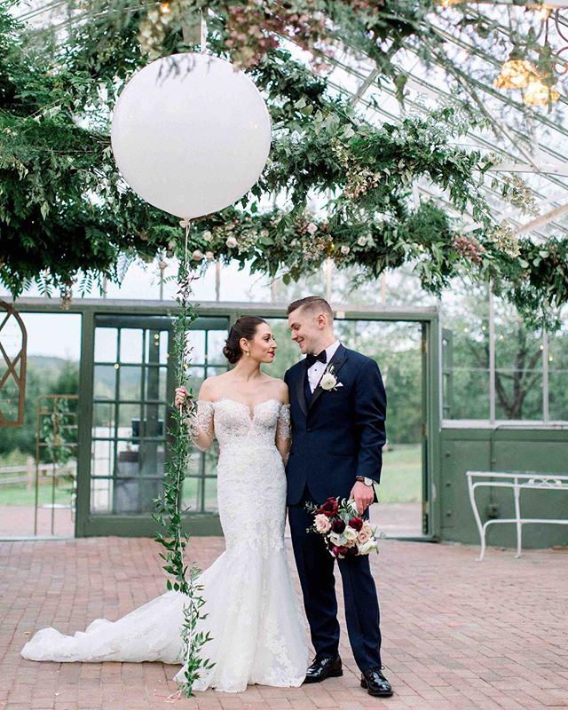 Jenna & Eli brought some serious style & class to their wedding day👌🏼 . photo | @kate_preftakes  planning/coordination | @nhwedplanner . . #weddingday #husbandandwife #forever #ido #classy #style #throwback #romantic #balloon #bouquet #love #nhwedding #flowers #lotusfloraldesigns #weddingflowers