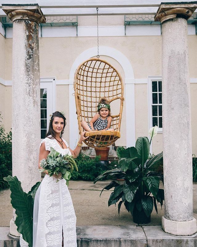 {bride & a babe} photo | @kate_preftakes . . #bride #flowerchild #boho #bohochic #bohostyle #courtyard #grecian #green #succulents #customdress #styledshoot #collaboration #getcreative #weddingflowers