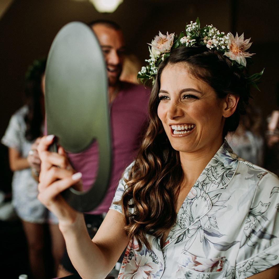 {we ❤️ flower crowns} photo | @ramblefreehannah  styling/coordination | @eventsbysorrell . . #bride #gettingready #herbigday #ido #thatsmile #gorgeous #flowercrown #weddingflowers #weddingday #weddingdesign #lotusfloraldesigns #weddingflorist #love